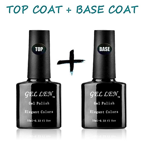 Gellen Classic Soak Off UV LED No Wipe Top Coat + Base Coat