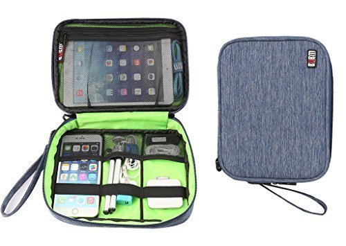Travel Organizer Carrying Bag - BUBM Portable Electronics Organizer Storage Bag for USB Cables,Chargers,Power Bank,iPad Mini by BUBM