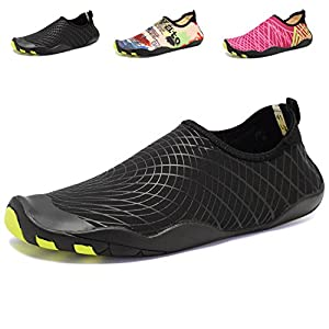 ACLULION Men Women Barefoot Quick-Dry Water Aqua Shoes Skin Flexible Socks for Beach, Swimming,Yoga