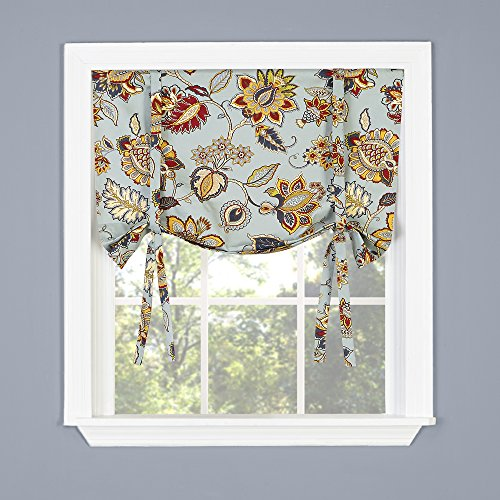 Tie Up Shade (Twill & Birch CELINE Twill & Birch Tie Up Drape Shade Valance, 33
