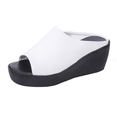 De Siswong Tacón Sandalias Zapatos Mujer Fiesta Moda Cuña Crocs qArwAxfEnO