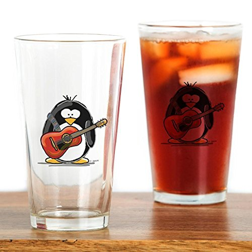 CafePress Acoustic Guitar Penguin Drinking