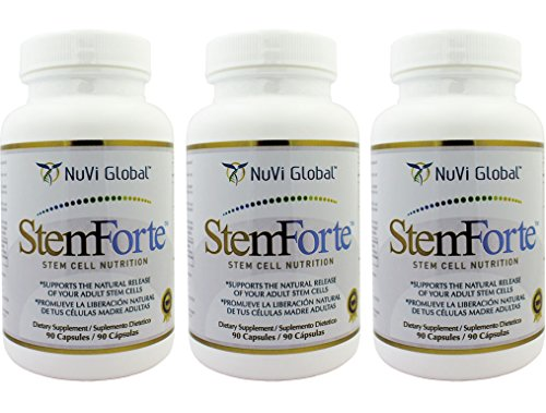 Stemforte – 3 Bottles – 90 Caps – BEST Advance Stem Cell Nutrition – Promotes Natural Release of Adult Stem Cells for OVERALL WELL-BEING. Multiple Benefits Increase Energy, Focus, Mood…
