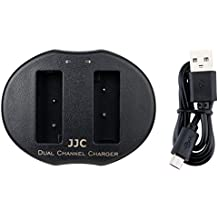 JJC USB Dual Battery Charger for Olympus OM-D E-M10, E-M10 Mark II III, PEN E-PL9, E-PL8, E-PL7, E-PL6, E-PL5,E-PM2,E-P3,Stylus1 Camera Battery BLS-1 BLS-5 BLS-50 replace Olympus BCS-5 Battery Charger