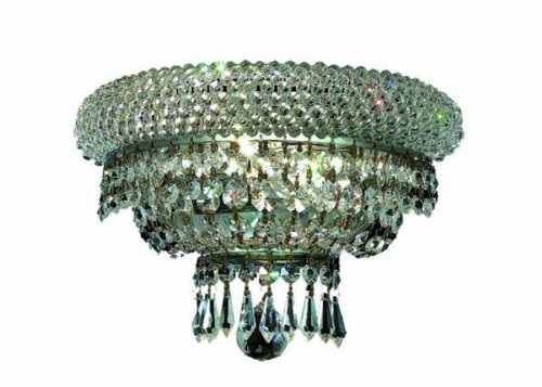 Primo Chandelier 8 Light - Elegant Lighting 1803W12C/RC Primo 8-Inch High 2-Light Wall Sconce, Chrome Finish with Crystal (Clear) Royal Cut RC Crystal