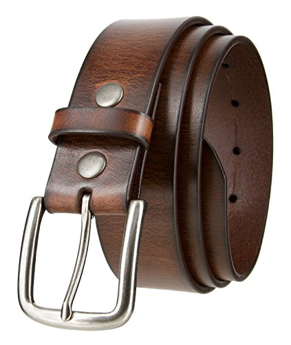 One Piece Vintage Style Casual Jeans Genuine Leather Belt 1-1/2