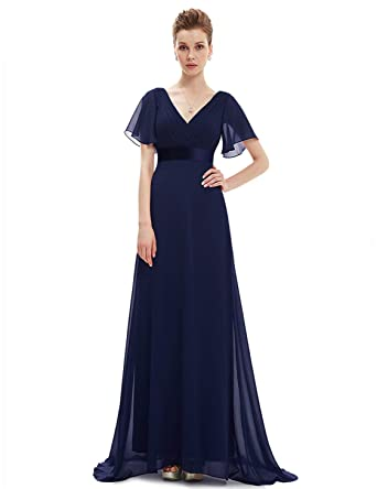 Ever-Pretty Cuello en V Vestido de Noche para Mujer 09890