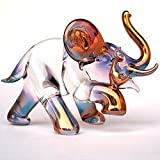 Elephant and Mouse Figurine of Hand Blown Glass