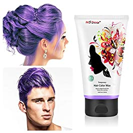 Fun Temporary Hair Color Wax Wash Out Hair Color Hair Dye Wax Hair Styling&Coloring Hair Wax for Halloween- Wash Off…