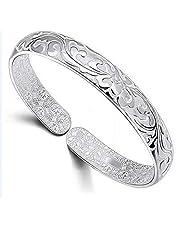 Ecloud Shop Women's Fashion Blossoming Sterling Silver Bracelet