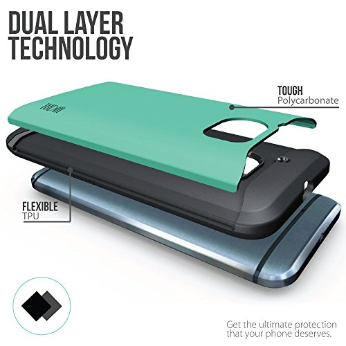 HTC 10 Funda, Caja protectora TUDIA Slim-Fit MERGE de doble capa para HTC 10 (HTC One M10) (Menta) Menta