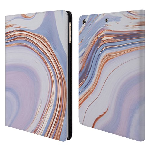 Official Martina Illustration Sky Blue Marbles Leather Book Wallet Case Cover For iPad Air (2013) by Head Case Designs