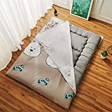 GJFLife Cotton Floor Tatami Mattress Protector Topper, Single Double Bed mats Futon Collapsible Thickened Sleeping pad Protector Cover-A 180x200x4cm