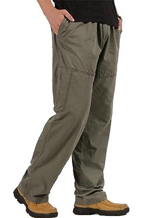 ea4558bc313 XiaoTianXin-men clothes XTX Men s Loose Twill Plus Size Casual Cotton  Straight Leg Utility Cargo