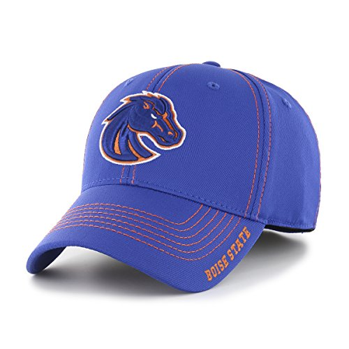 Boise State Broncos Gear (OTS NCAA Boise State Broncos Adult Start Line Center Stretch Fit Hat, Medium/Large, Royal)