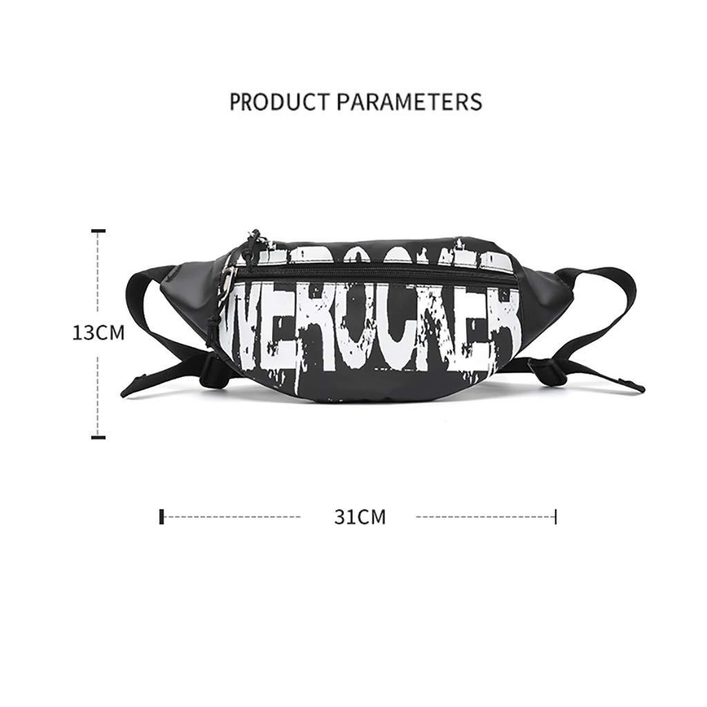 Mens Chest Bag Tide Brand Messenger Bag Waist Bag Mens Small Lightweight Portable Shoulder Bag Street Hip Hop Small Bag Shoulder Bag Chest Bag Color : Black, Size : 1331CM