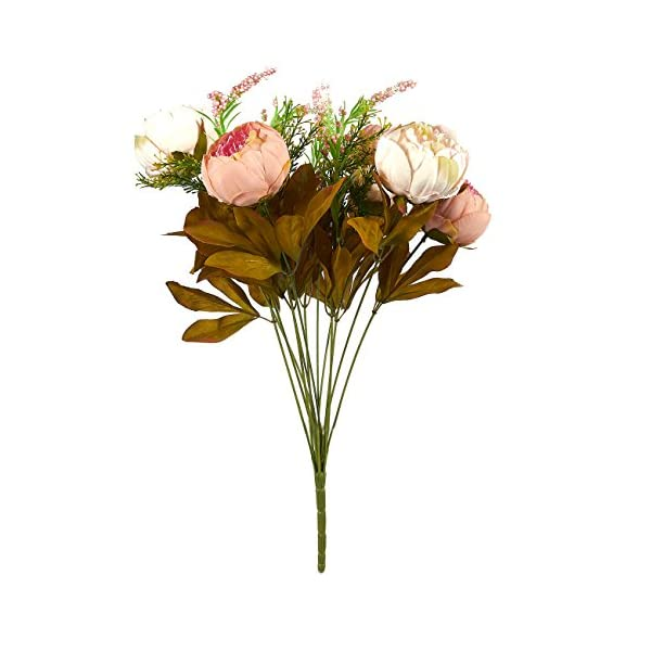 Juvale Artificial Flowers for Weddings and Valentine's Day, Peony Bouquet (18 x 11 x 4 Inches)