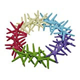 LJY 25 Pieces Multi-Colored 3.15 Inches Resin Pencil Finger Starfish for Wedding Home Decor and Craft Project