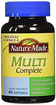 Nature Made Multi-Complete with D3, Iron & Calcium, Liquid Softgels, 60-Count