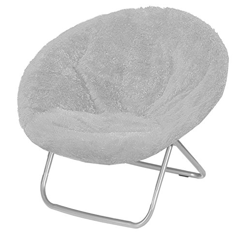 Urban Shop Saucer Chair, Adult, Grey by Urban Shop