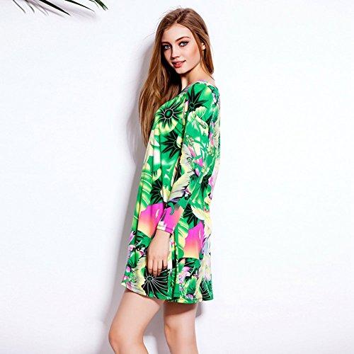 Pinkyee - Vestido - chaqueta - para mujer Verde