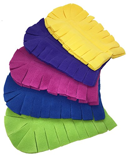 (Xanitize Fleece Refills for Swiffer Hand Duster - Reusable, Dry Duster - 5-Pack Rainbow (Jewel))