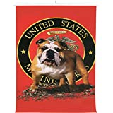 HommomH Print Canvas Wall Decoration Poster (20x30 inch) With Hanging Shaft Bulldog Marine Corps
