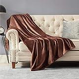 Bedsure Fleece Blanket Throw Blanket Chocolate