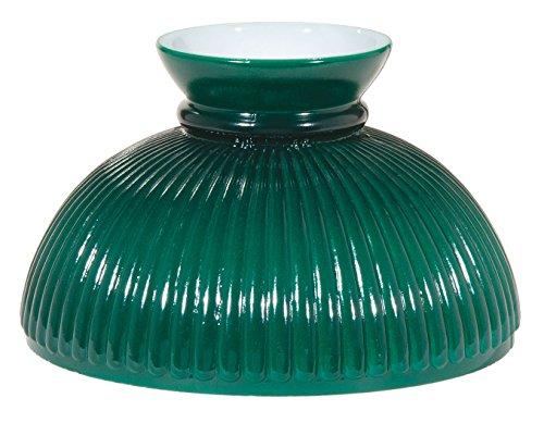 "B&P Lamp 10"" Shade, Rib, Dark Green"