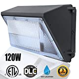 120W LED Wall Pack Light,(Wall Pack Light 5000K Daylight),Waterproof Commercial/Industrial Outdoor Wall Pack Lighting 500~600W HPS/HID Bulb Replacement