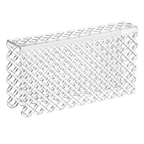 mDesign Tappetino Lavello - Protezione Divisore Doppio Lavandino - Soluzione antigraffio per proteggere le superfici laterali - In robusto PVC - Trasparente MetroDecor