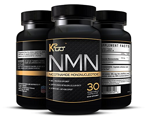 K-2-GO 150 mg Nicotinamide Mononucleotide Intro Price - Pure Maximum Strength Supplement Available. 30 Easy to swallow Vegetable Capsules - Supplements that Provide the Plus Needed For Workouts