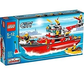 Lego City 7207 Feuerwehrschiff Amazon De Spielzeug