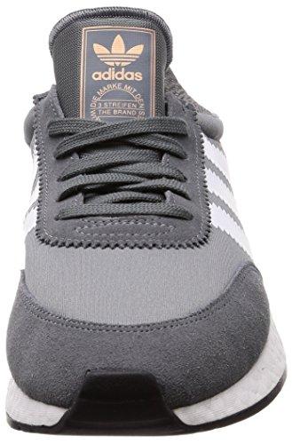 Adidas Originals Mens I-5923 Grå Mesh Och Mocka Gymnastikskor Grå