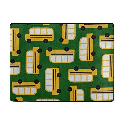 (Non-Slip Area Rug School Bus Provides Protection and Cushion Living Room Dining Room Office for Floors)