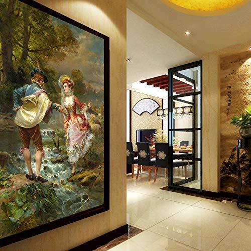 Aceite Europea foto del papel pintado 3D estilo de pintura Figura murales de la sala de estar Entrada del hotel Fondo de la pared del papel pintado de papel 3D