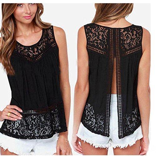 Sexy Gilet , Amlaiworld Femmes Summer sans manches en dentelle crochetée shirt