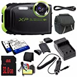 Fujifilm FinePix XP80 16.4 MP CMOS WiFi WaterProof Digital Camera (Graphite Black) + EN-EL10 Replacement Lithium Ion Battery + External Rapid Charger + 32GB SDHC Class 10 Memory Card + Carrying Case + Mini HDMI Cable + SDHC Card USB Reader + Memory Card Wallet + Deluxe Starter Kit DavisMAX Bundle