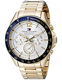 Tommy Hilfiger 1791121 Reloj deportivo sofisticado de acero inoxidable, dorado, para hombre