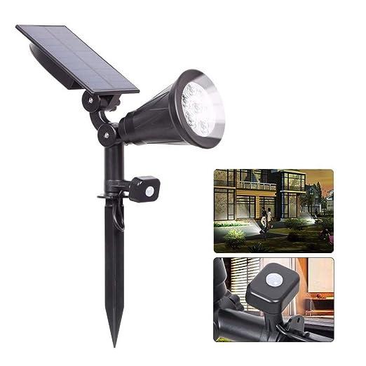 Z-GROSH Luces solares Luces de jardín con Sensor de Movimiento al ...