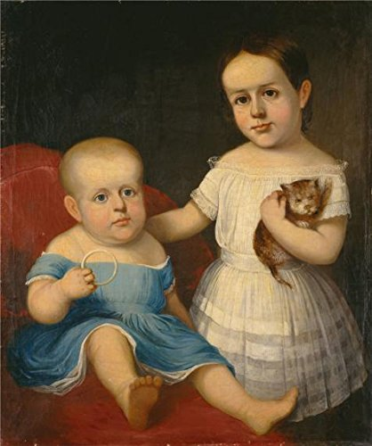 Costumes Dean The Community (The High Quality Polyster Canvas Of Oil Painting 'unknown,Two Children With Cat,ca.1845' ,size: 24x29 Inch / 61x73 Cm ,this Vivid Art Decorative Canvas Prints Is Fit For Living Room Artwork)