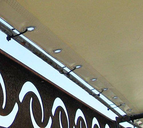 TUTTOPERGOLE Ricambio Telo PVC Bianco 300 CM X 250 CM per Gazebo Pergola in Ferro