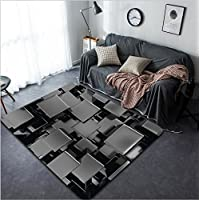 Vanfan Design Home Decorative 89626807 3d abstract background Modern Non-Slip Doormats Carpet for Living Dining Room Bedroom Hallway Office Easy Clean Footcloth