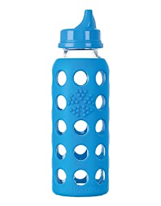 Lifefactory 9-Ounce BPA-Free Glass Bottle, Ocean