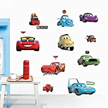 ufengke® Cartoon Cars Trucks Wall Decals, Children's Room Nursery Removable Wall Stickers Murals
