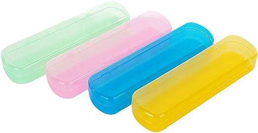 Ericotry - Estuche de plástico para cepillos de dientes, a prueba de polvo, para uso diario y de viaje, color aleatorio: Amazon.es: Hogar