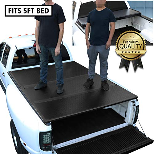 DNA MOTORING TTC-HARD-059 Truck Bed Top Hard Solid Tri-Fold Tonneau Cover