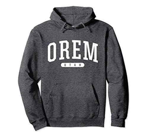 Unisex Orem Hoodie Sweatshirt College University Style UT USA XL: Dark - University Utah Orem In