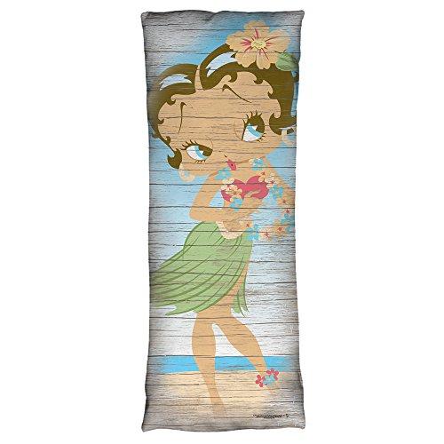 Betty Boop Hula Boop Microfiber Body Pillow White 18X54