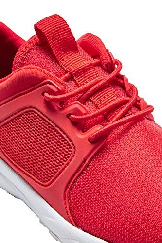 next Niños Zapatillas Malla Tendencia Zapatos Calzado Rojo